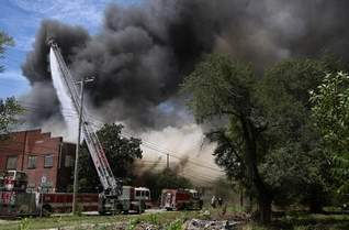 pouring water on southern publishing association fire in nashville